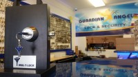 Mul-T-Lock Display in Guardian Angel Locksmith Storefront